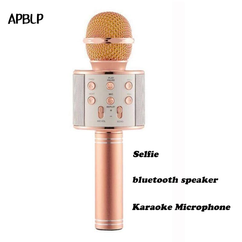 Mikrofone Hause Karaoke Unterhaltung Mikrofon Tragbare Wireless Bluetooth Lautsprecher Karaoke Mikrofon Mic Player Für Telefon K088 GroßE Auswahl; Unterhaltungselektronik