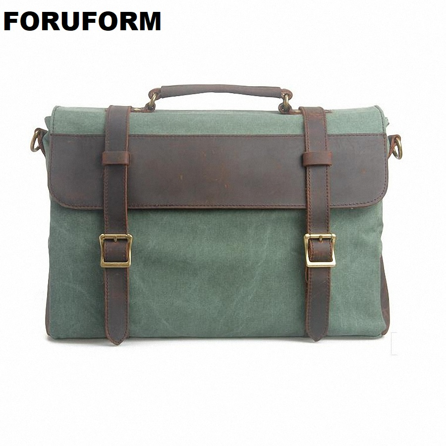 15 Inch Laptop Canvas Bag New Vintage Men Messenger Bags Crossbody Bag Men  Travel Bag School Handbag LI-632 women handbag shoulder bag messenger bag casual colorful canvas crossbody bags for girl student waterproof nylon laptop tote