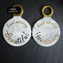 Keramik marmor griff platzdeckchen frühstück bahn/Kerzenhalter/butterdose 1 satz/los