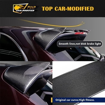 Free shipping Car Styling For Porsche Cayenne carbon fiber wing  CF top wing Car Accessories