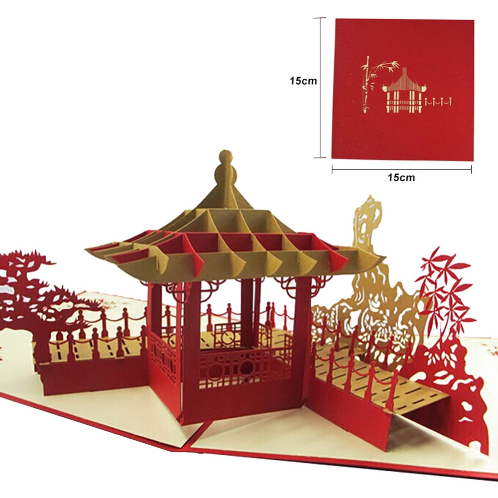 Wedding Invitation Card 3D Chinese Dragon Birthday Greeting Cards ...