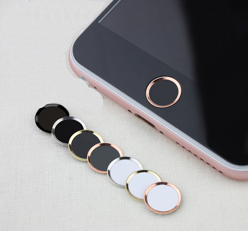 Metal Home Button Sticker Touch ID Support Protector for iPhone 7 Plus Gracious