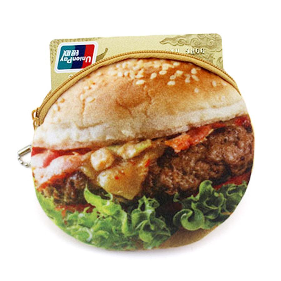 XYDYY Kawaii Söt Hamburger Stekt Ägg Kvinnor Barn Plysch Mynt - Plånböcker - Foto 4