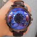 5.8 cm Grande Dial Relógios Oulm Masculino Relógio Futuro Montres de Marque de Luxo Relojes de Lujo Marcas Homens Do Exército Militar Relógio Saat Erkek