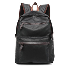 2016 Hot Selling Oil Wax Leather Backpack For Men Western College Style Bags Men
