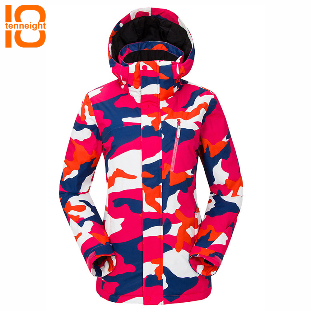 TENNEIGHT Women Winter Warm Ski Jacket Outdoor Snow Skiing Snowboard jacket Sport Coats Waterproof windproof hiking ski suit professional ski jacket women windproof waterproof winter warm outdoor sport snow wear snowboard jacket camping outdoor brand