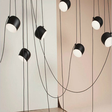 Nordic Minimalism Aluminum Black/White Adjustable Hanging Modern Pendant Lights For Dining Kitchen Room Bar Home Pendant Lamp modern aluminum iron metal pendant lights gold silver black white nordic designer plated ring pendant lamp for home room pll 769