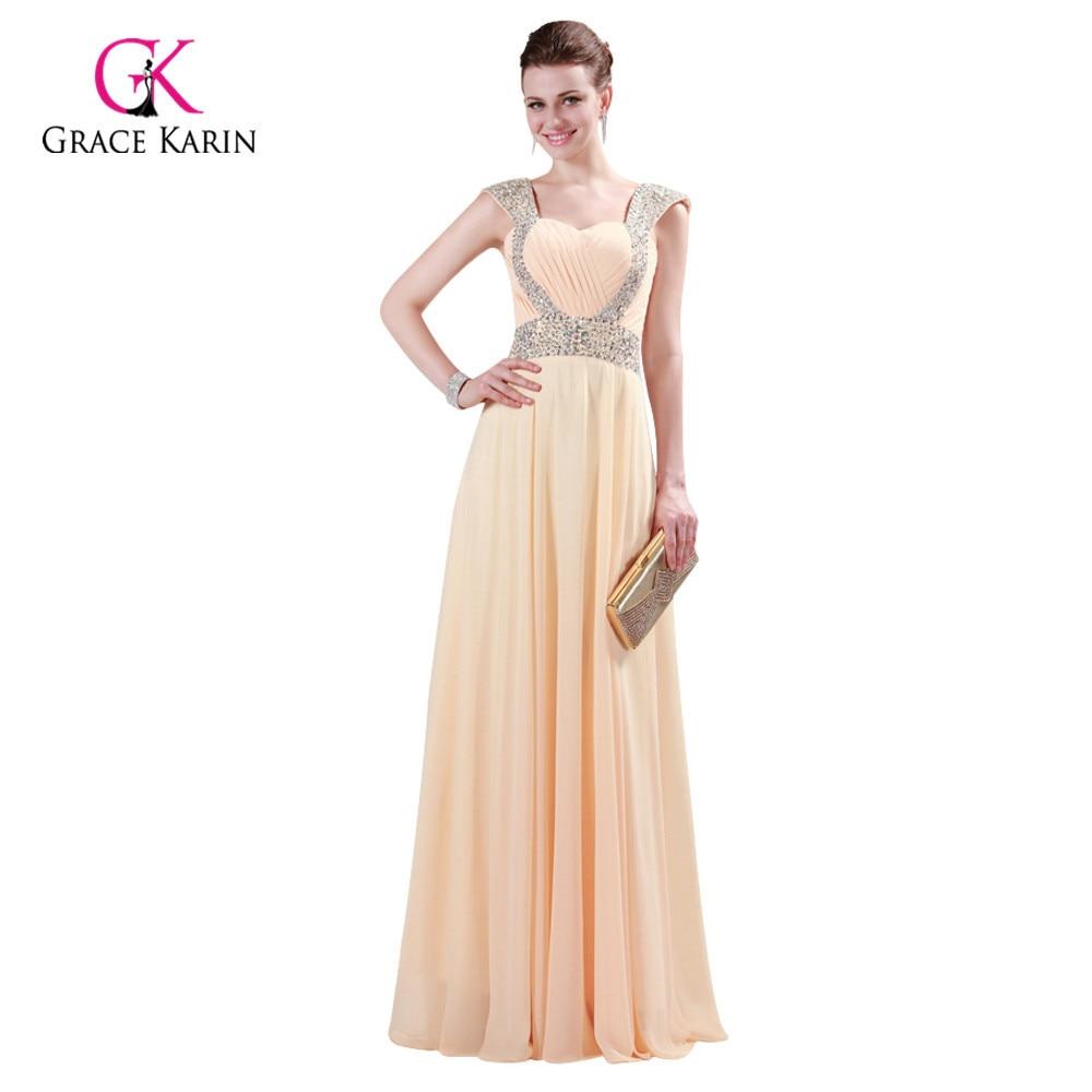 Grace Karin Chiffon Red Formal Dress Evening Dresses 2018 Long Gowns ...