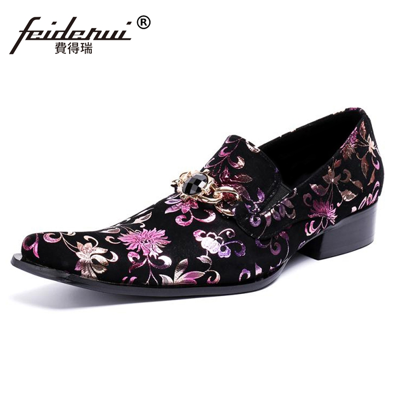 Plus Size Luxury Pointed Toe Slip on Man Italian Banquet Loafers Cow Suede Leather Comfortable Handmade Men's Casual Shoes SL409 large size mens luxury fashion party nightclub cow leather shoes slip on breathable rhinestones shoe pointed toe loafers sapatos