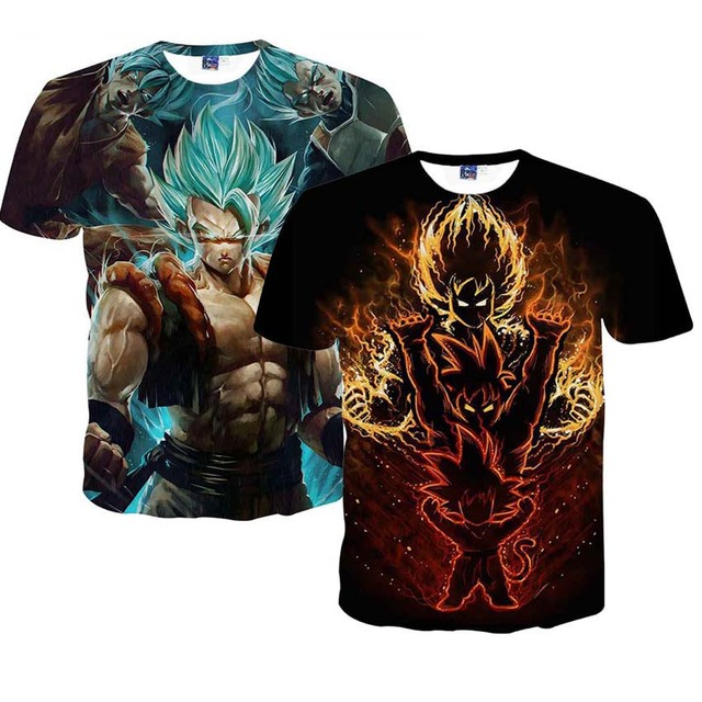 Dragon Ball Z Men's Summer T-shirts 3D Printing Super Saiyan Son Goku Black Zamasu Vegeta Dragonball T Shirt Tops Tees