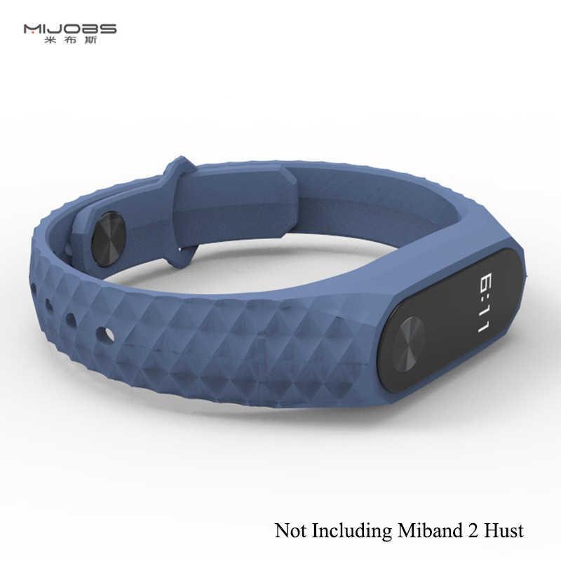 جديد Mjobs Miband 2 حزام سيليكون شاومي Smartband 2 الأساور الإبداعية مريحة استبدال الأشرطة اكسسوارات band2 حالات