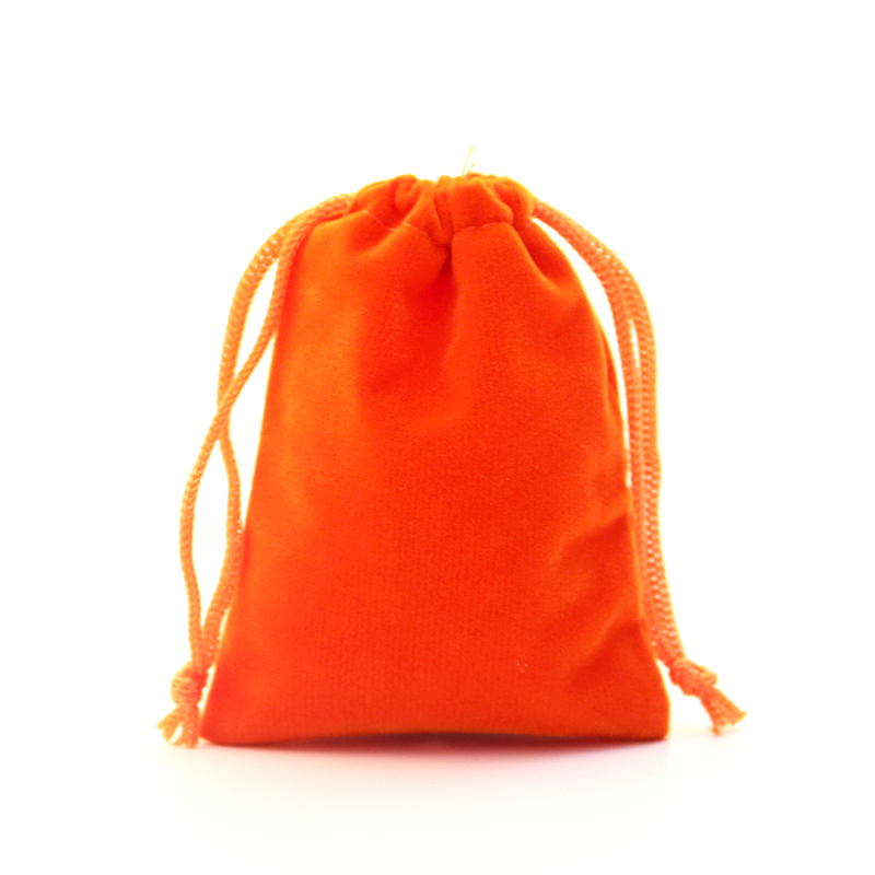 Us 26 52 15 Off 9x12cm Orange Jewelry Bag Velvet Pouch Gift With Drawstring Packaging Whole Lots 100pcs Pouches In