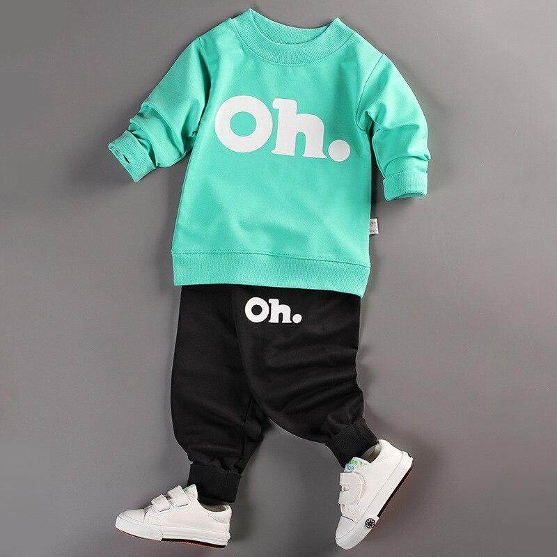 Baby Boys Girls Clothes Set Long Sleeve Sport Suit Autumn Spring Tracksuit Children Clothing Kids Cotton Suits Roupa De Menina стоимость