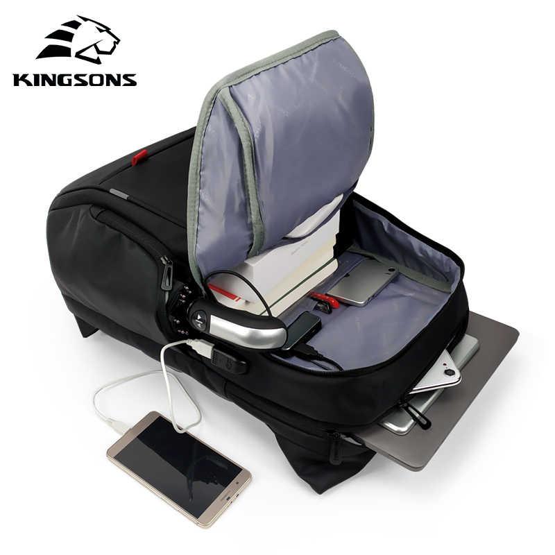 Kingsons 2019 Baru Pria Wanita 12 13 14 15 17 Inch Laptop Ransel Fashion Wear-Resistant Bisnis Kenyamanan Perjalanan mahasiswa Ransel
