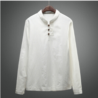 Mandarin Collar Shirts For Men Linen Shirts Casual Camisas Masculina Chinese Shirt Mandarin Collar Shirts Chinese