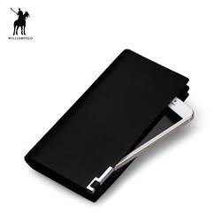 Элитный бренд WilliamPOLO Англия мужское в деловом стиле бумажник из натуральной кожи кошельки клатч, кошелек, портмоне длинные PL111 черный