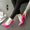 9CM Fashion Women High Heels Stiletto Women Pumps Patent Leather Ladies Shoes Pointed Toe Women Spring Heels Sexy OL Girls Shoes