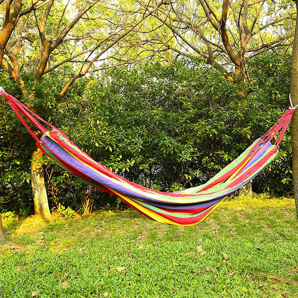 Image 4 - Hot Sale Hammock for 2 persons 200cm * 150cm up to 200 kg Red-in Hammocks from Furniture