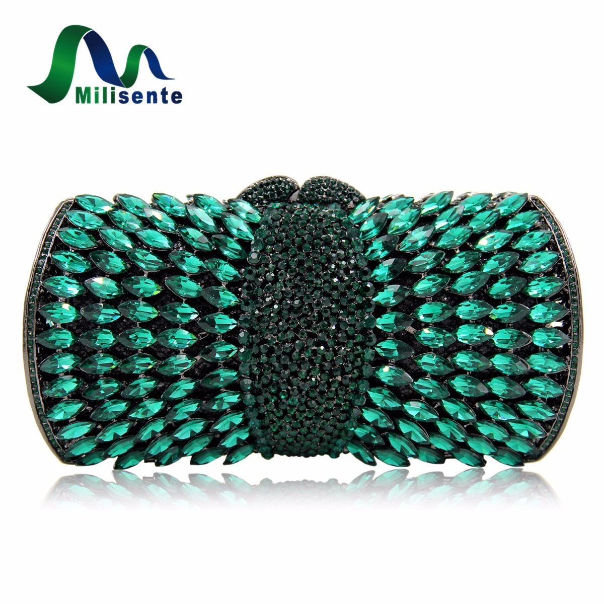 Milisente Women Evening Crystal Bags Ladies Sliver Party Bag Female Gold Wedding Clutches Purses milisente women evening bags silver ladies wedding clutches bag gold luxury crystal party diamonds clutch