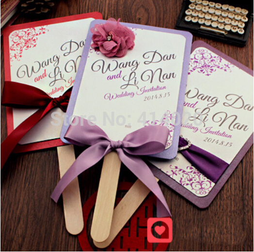 100Pcs /Lot Customized New Candy Wedding Invitation Card Diy Personalized Invitation  Wedding Supplies Card +