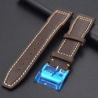 Novo produto confortável 20mm 21mm 22mm bezerro pulseira de relógio de couro para tissot iwc pulseira masculina marrom escuro macio vermelho watch strap leather watch strap strap for -