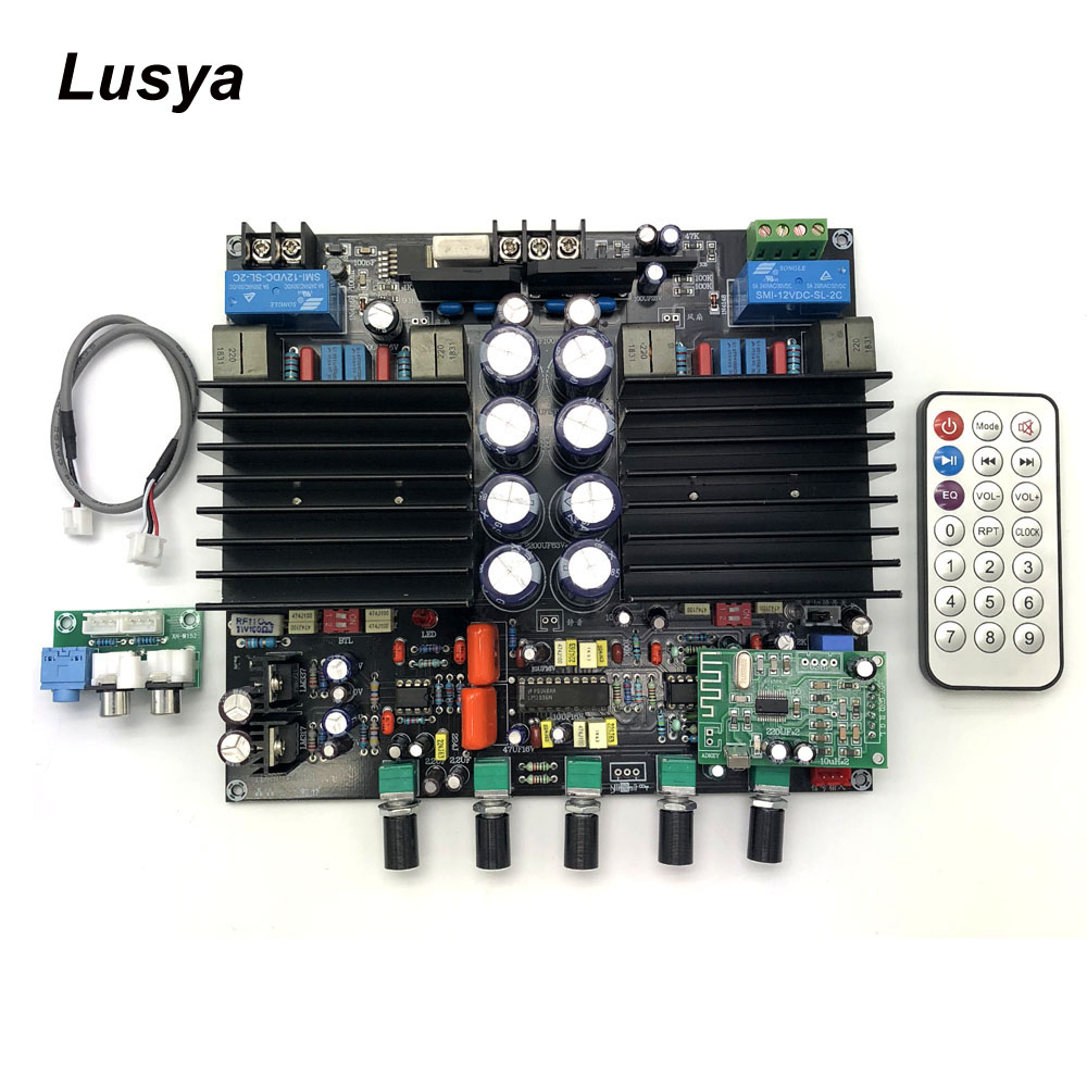 TDA8954TH <font><b>2.1</b></font> Bluetooth HIFi Digital <font><b>Amplifier</b></font> Board Class D 210W +210W Assembled Preamp LM1036+NE5532 <font><b>Amplifier</b></font> Board C6-003 image