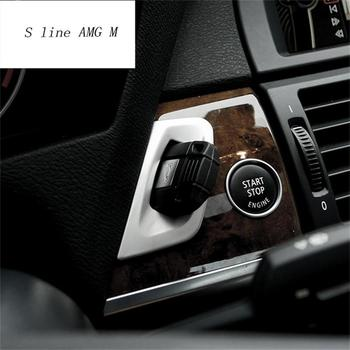 Car styling keyhole decorative frame cover trim stainless steel Cover sticker strip for BMW X5 E70 X6 E71 2008-2014 Accessories image