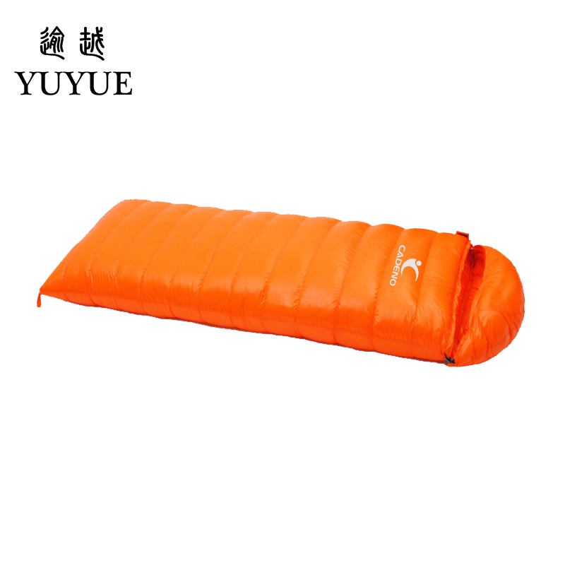 Tourism camping equipment sleeping bag adult  for tourist camping tent envelope type survival sleeping bag down sleeping bag 2