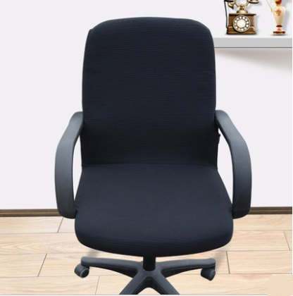 Plain office puter chair cover side zipper design arm chair cover recouvre chaise super stretch rotating