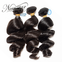 NEW STAR 3 Pieces 10 34 Inches Loose Wave Brazilian Virgin Human Hair Bundles Top Grade Cuticle Aligned Weave Hair Extensions