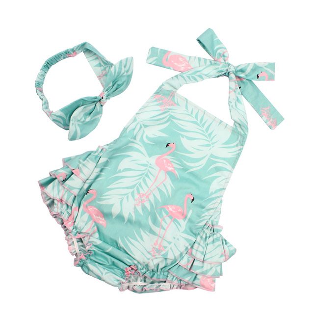 Cute Rompers for Baby Girls with Floral Design