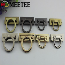 Meetee 2pcs Metal Clasp Turn Twist Lock Closure for Handbag Buckles DIY Leather Craft Bag Hardware Replacement Accessories E6-8