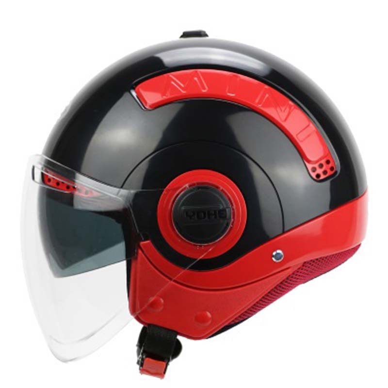New arrive motorcycle helmet men women half helmet vintage double lens motorbike scooter ...
