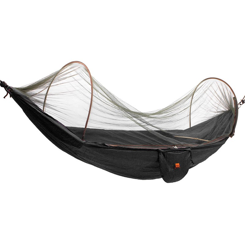 SGODDE Outdoor Parachute Cloth Fabric Hammock Portable Camping Hammock With Mosquito Nets Single Person Hammock Swing Hot Sale camping hammock moko outdoor double hammock 2 person portable parachute hammock swing with straps travel hammock for camping