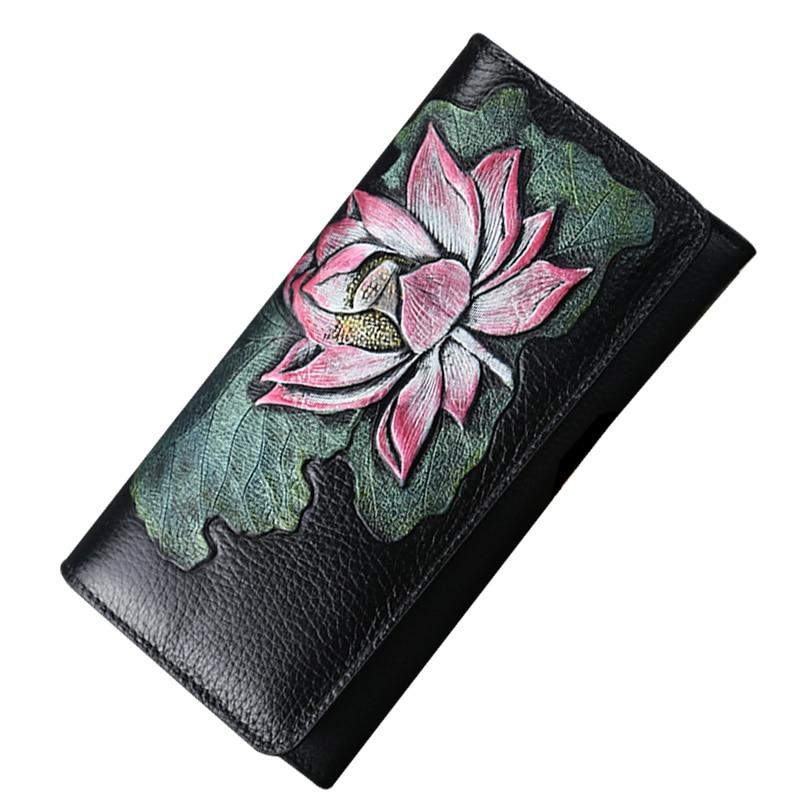 Las nuevas señoras del diseño Carteras de cuero genuino Monedero de - Monederos y carteras