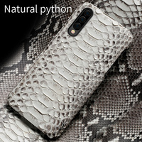 Natural Python leather For samsung a50 case cover Luxury anti fall back covers For Samsung A30 A70 SM A505F Sexy marvel funda