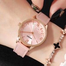 Para Mujer relojes de pulsera de cuarzo mujer del cuero genuino Disney  marca Mickey mouse relojes impermeable reloj Movimiento C.. a8bb04b03001
