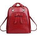 Y45 продать! Мода женщин с бантом рюкзак высокое качество школьные рюкзаки для девочек-подростков женщины кожа рюкзак Mochila женский