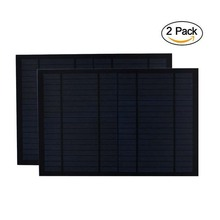 Солнечная панель 2 шт./лот, 18 в, 20 Вт, 10 Вт, 0,55 А, миниатюрный монокристаллический Поликристаллический PV модуль, аккумуляторная батарея 12 В, автомобильная батарея 10 20 Вт