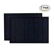 2 шт./лот панели солнечные 18 в 20 Вт 10 0.55A Мини PET монокристаллический Поликристаллический pv модуль cell charge 12 батарея 20