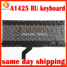 RU Russian keyboard For Apple Macbook Retina A1425 Russia Keyboard Replacement late 2012 early 2013year with screw driver