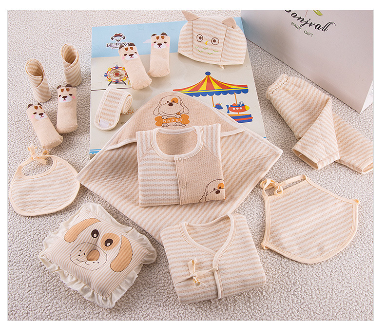 0 12M Newborn Clothing Gift Set 11 Pieces And 8 Pieces For Anyone Seasons 100 Infant Cotton Suit Baby Clothes Toddler Underwear in Clothing Sets from Mother Kids