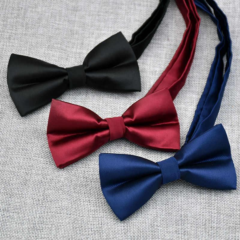 CityRaider Bordeaux Solido Blu Navy Nero Da Sposa Tuxedo Cravatta a Tinta Unita di Colore Cravatte per Gli Uomini di Seta Pre-Legato smoking Bow Tie C031