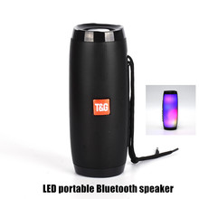 NEW Colorful LED Lights Bluetooth Speaker HIFI Stereo Wireless Portable with Mic Hands Free Support TF FM USB Flash Subwoffer стоимость