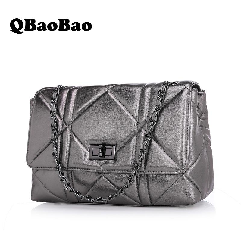 brand fashion women genuine leather shoulder bag chain female luxury handbags women high quality messenger bags designer 2017 ly shark brand luxury handbags women bags designer female shoulder messenger bag casual high quality ladies genuine leather bags