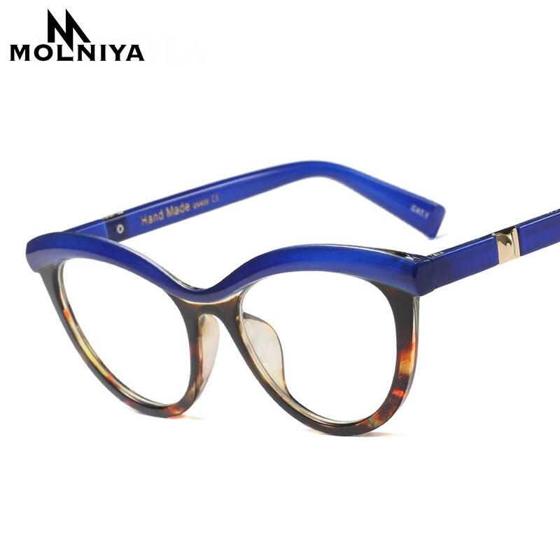 128cbaa6edc MOLNIYA 2018 New Fashion Cat Eye Reading Eyeglasses Optical Glasses Frames  Glasses Women Frame Ultra Light Frame Clear Glasses -in Eyewear Frames from  ...