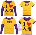 2 Styles NO GAME NO LIFE Sora Cosplay Long Sleeve Casual T-shirt Unisex Men Women Cotton Shirts False Two Pieces Tee Shirt
