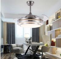 Quiet and invisible LED ceiling fan light fan living room dining room bedroom household fan