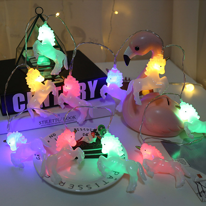 Unicorn Luminary LED Lights Home Decor String Fairy Light night light LED Desk Lamp String Light Christmas Outdoor Indoor Lamp|Lighting Strings|Lights & Lighting - title=