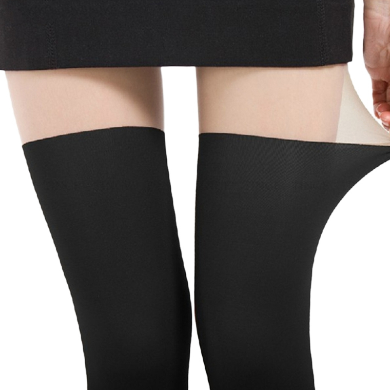Black Stockings Spring Autumn Twisted Knee Stocking Pantyhose Tights Women Patchwork Tights Lady Color Stitching